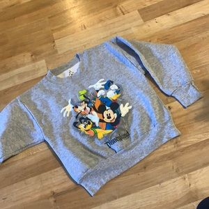 Disney sweatshirt sz xs grey